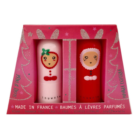 Christmas Bunny Lip Balm Duo by Inuwet - Junior Edition