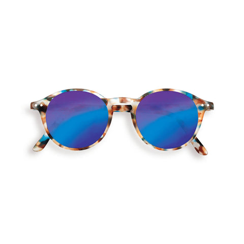 Sun Junior Sunglasses #D (3-10 Years) in Blue Tortoise Mirror by Izipizi