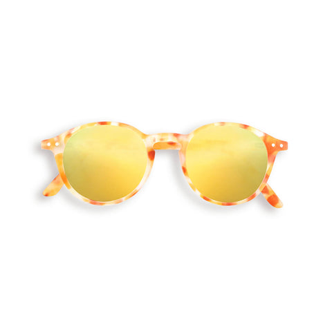 Sun Junior Sunglasses #D (3-10 Years) in Yellow Tortoise Mirror by Izipizi