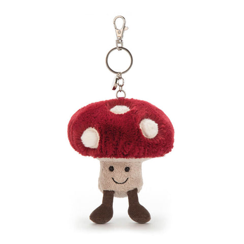 Amuseable Mushroom Bag Charm by Jellycat