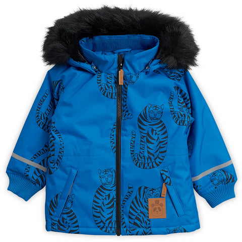 K2 Tiger Parka in Blue by Mini Rodini