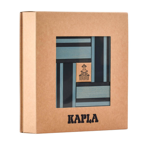 Two Colour Plank Set: Advanced Builders in Light Blue and Dark Blue By Kapla