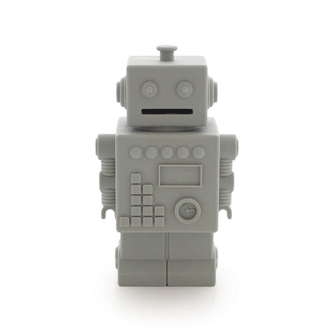 Robert the Robot Money Bank in Light Grey by KG Design - Junior Edition