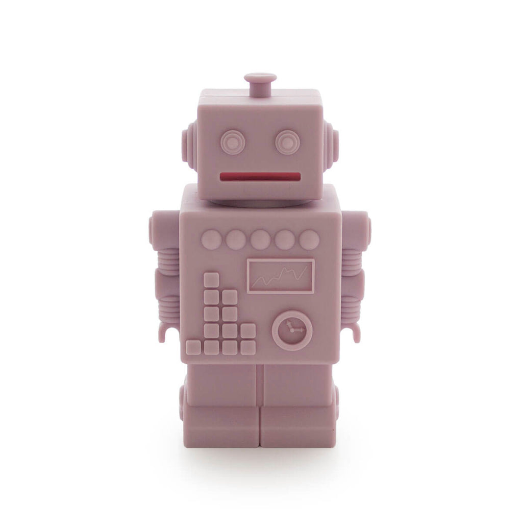 Robert the Robot Money Bank in Light Pink by KG Design - Junior Edition