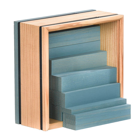 40 Square Box of Planks in Light Blue By Kapla