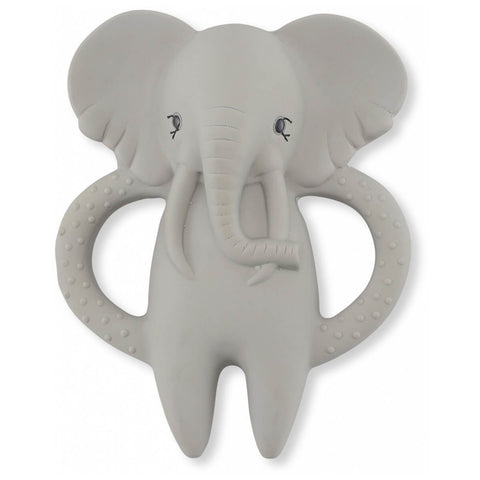 Teether Soother Elephant in Grey by Konges Sløjd