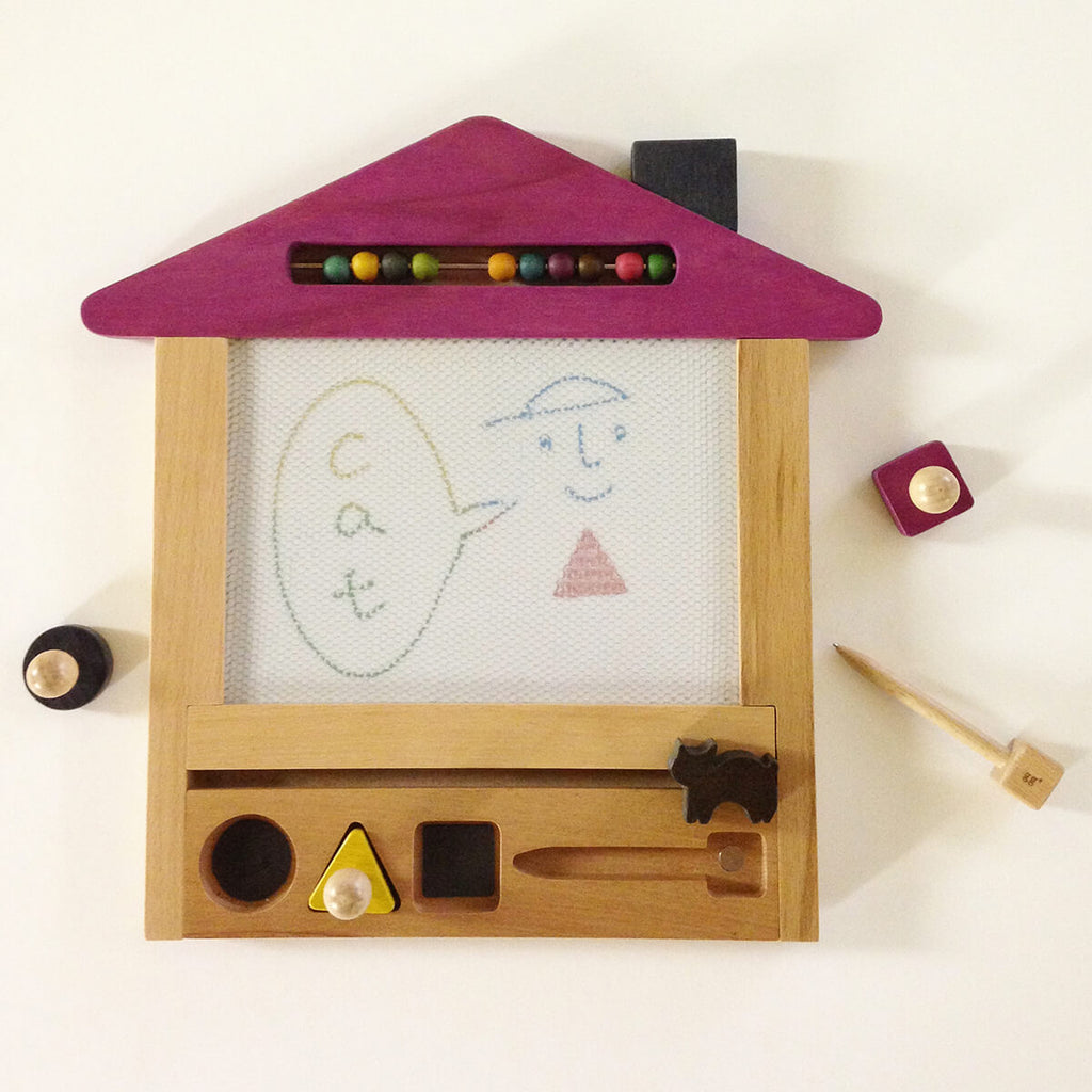 Oekaki House (Cat) - Magic Drawing Board by Kukkia / Kiko+ - Junior Edition
