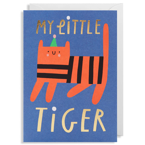 My Little Tiger Greetings Card by Susie Hammer for Lagom Design
