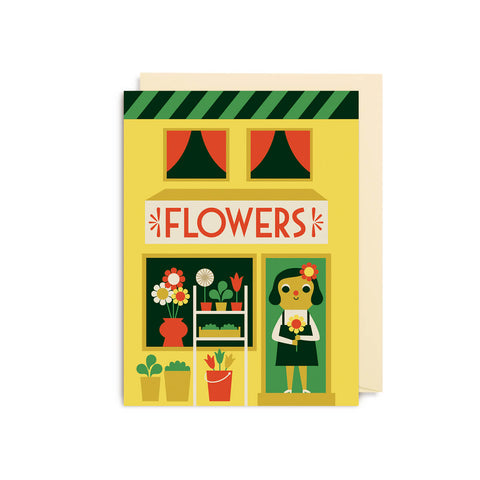 Florist Mini Greetings Card by Ingela P. Arrhenius for Lagom Design