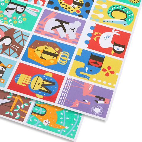 Alphabet Gift Wrap by Cozy Tomato for Lagom Design - Junior Edition