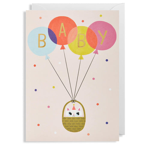 Baby Girl Greetings Card by Allison Black for Lagom Design - Junior Edition
