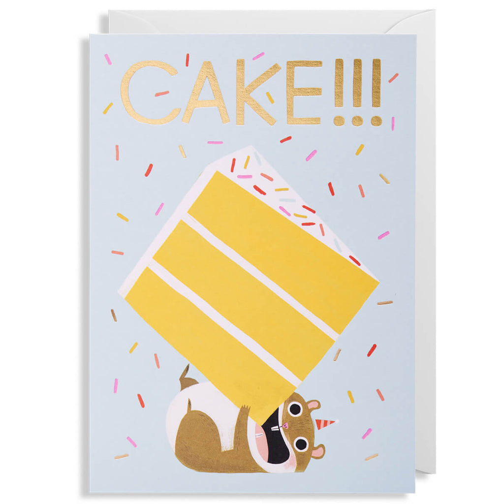 Cake Hamster Greetings Card by Allison Black for Lagom Design - Junior Edition