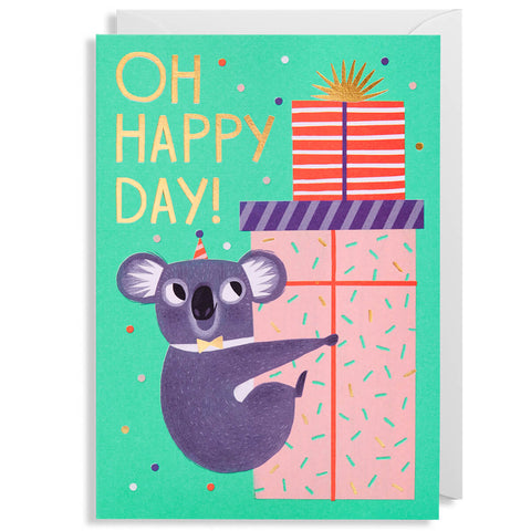 Oh Happy Day Koala Greetings Card by Allison Black for Lagom Design