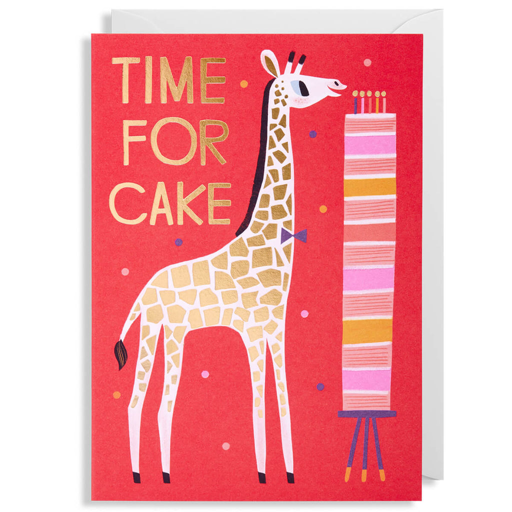 Time For Cake Greetings Card by Allison Black for Lagom Design - Junior Edition