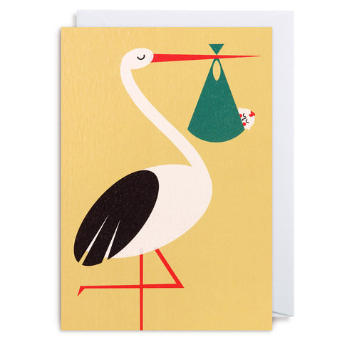 New Arrival Greetings Card by David Ryski for Lagom Design