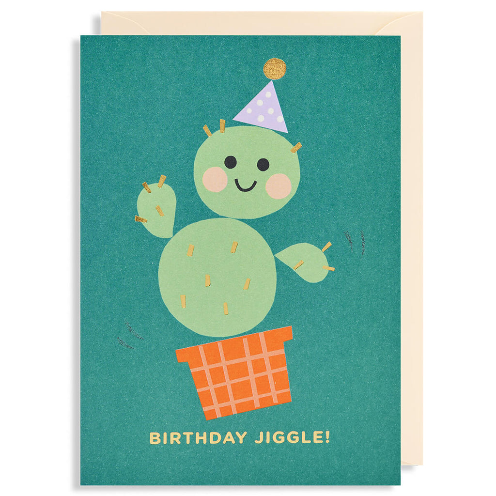 Birthday Jiggle Greetings Card by Ekaterina Trukan for Lagom Design - Junior Edition