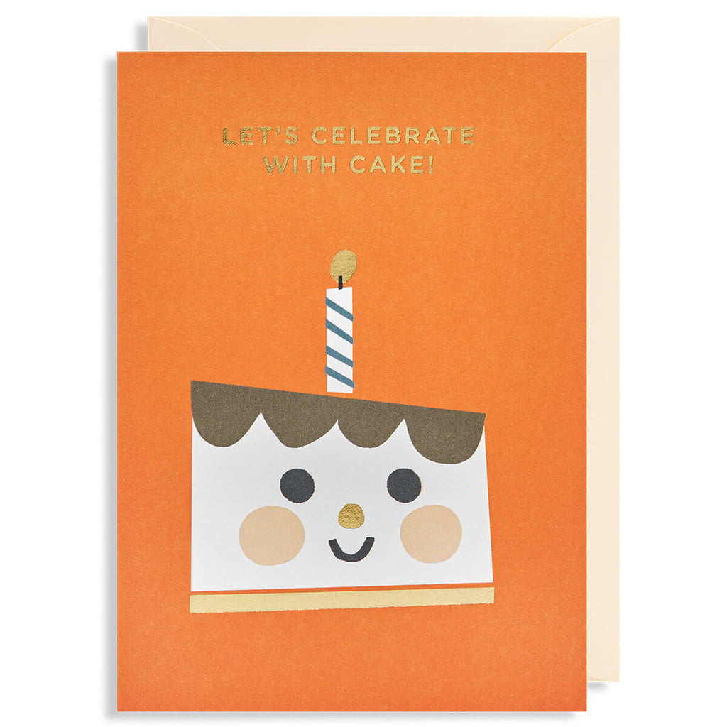 Let's Celebrate With Cake Greetings Card by Ekaterina Trukan for Lagom Design - Junior Edition