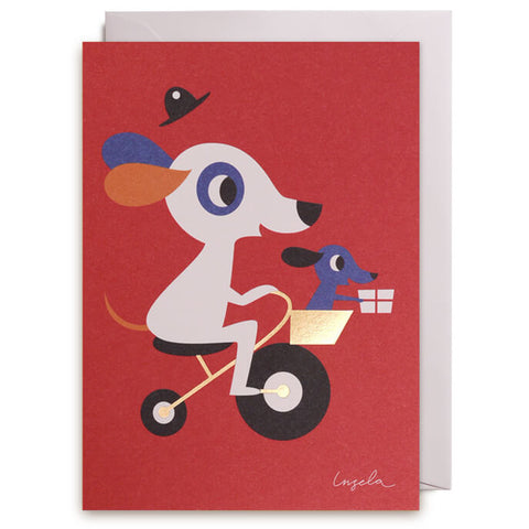 Doggy Delivery Greetings Card by Ingela P. Arrhenius for Lagom Design