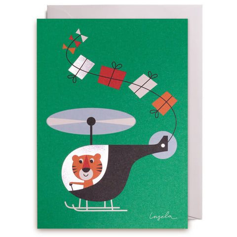 Helicopter Greetings Card by Ingela P. Arrhenius for Lagom Design