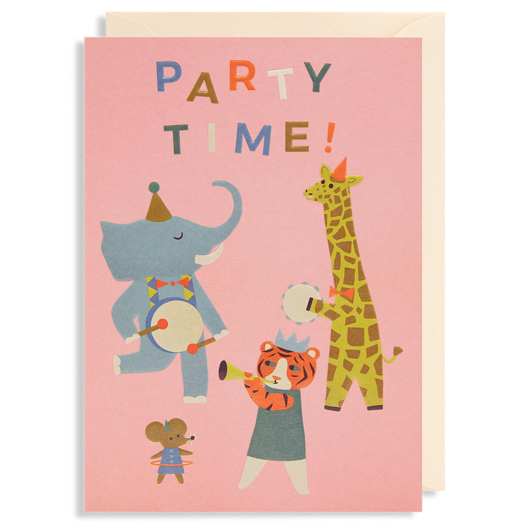 Party Time Greetings Card by Naomi Wilkinson for Lagom Design - Junior Edition