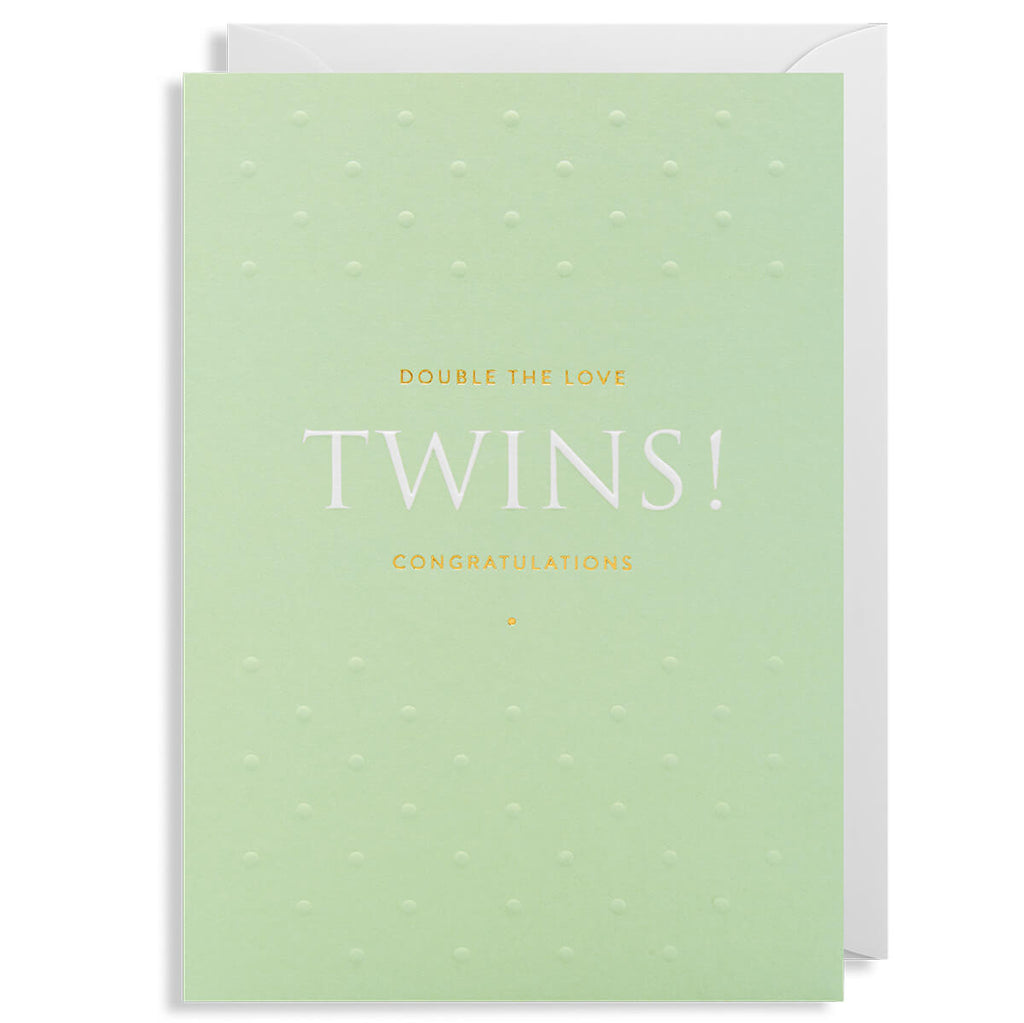 Twins! Greetings Card by Postco for Lagom Design - Junior Edition