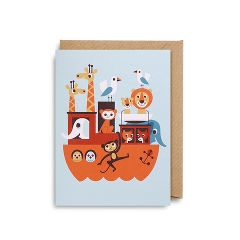Ark Mini Greetings Card by Ingela P. Arrhenius for Lagom Design - Junior Edition