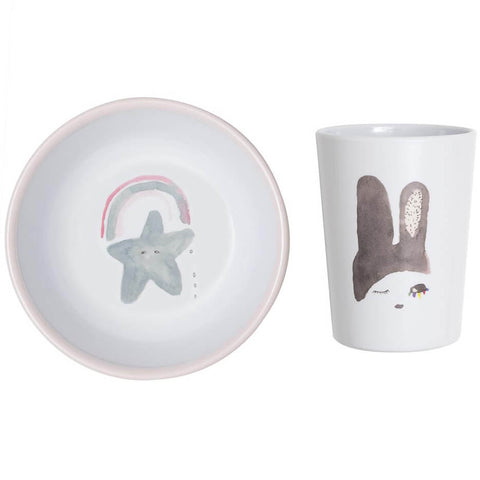 Pax & Hart Bunny Ears Bowl and Tumbler Set by Lapin & Me - Junior Edition