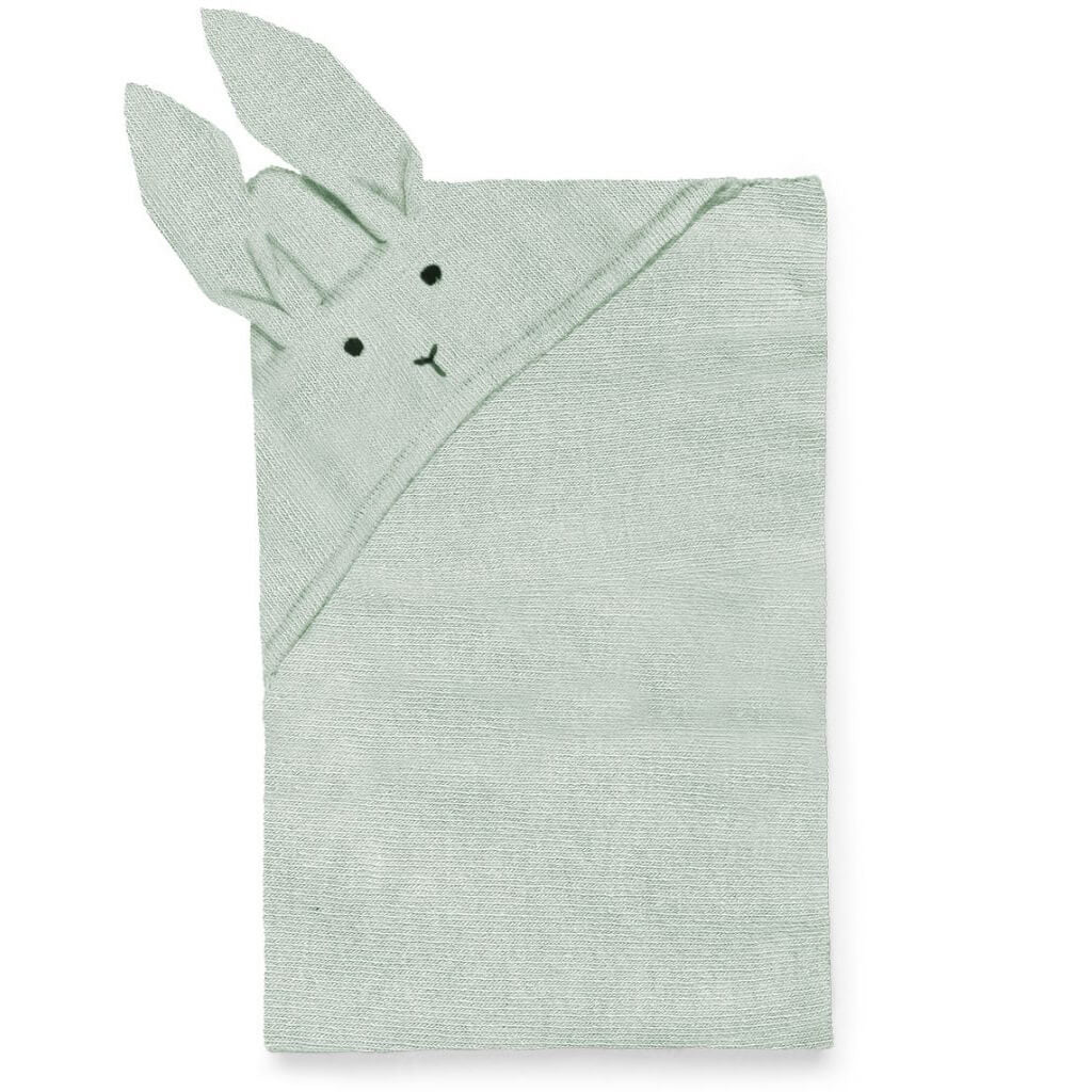 Willie Knitted Rabbit Blanket in Mint by Liewood - Junior Edition