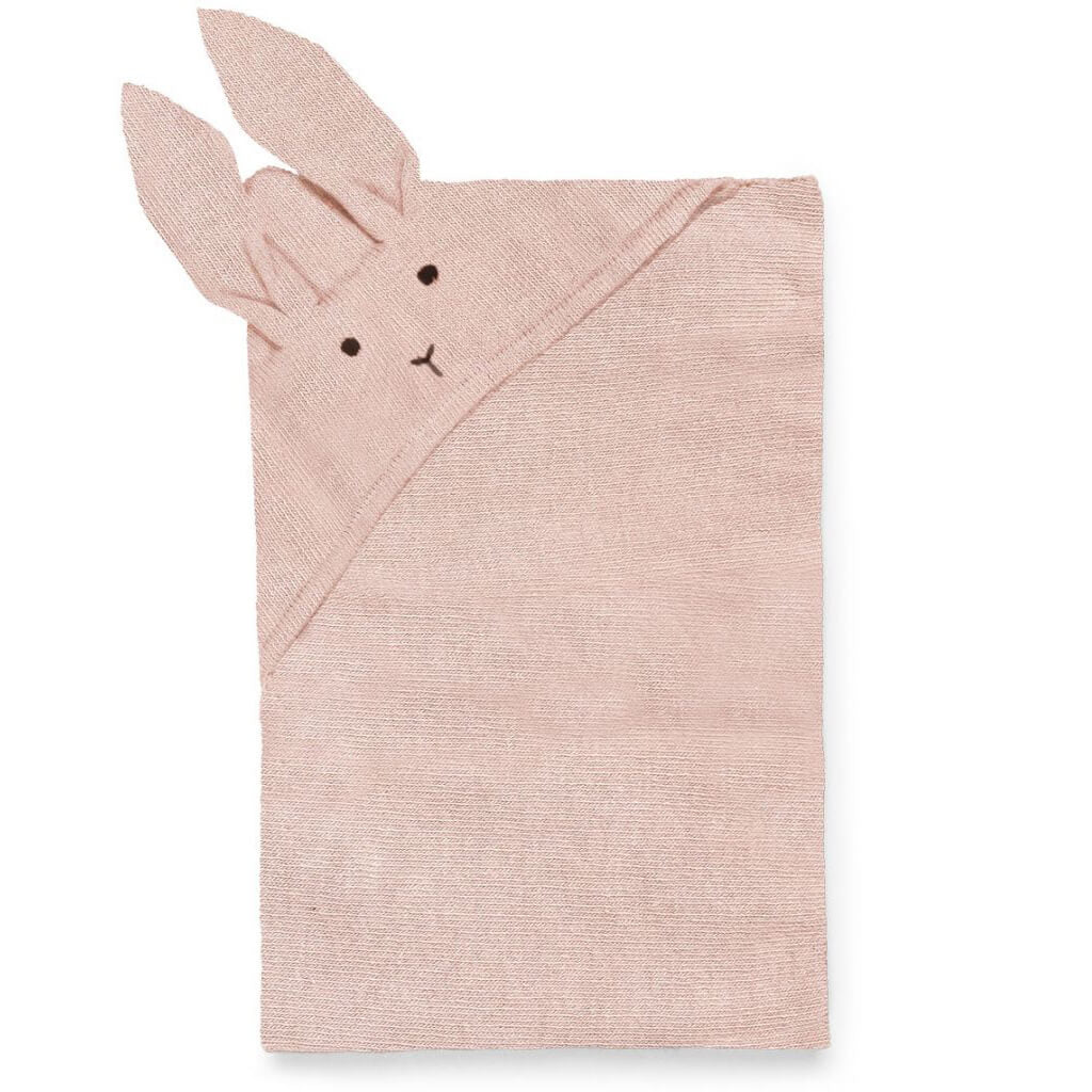 Willie Knitted Rabbit Blanket in Rose by Liewood - Junior Edition