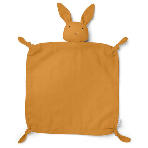Agneta Rabbit Cuddle Cloth in Mustard by Liewood - Junior Edition
