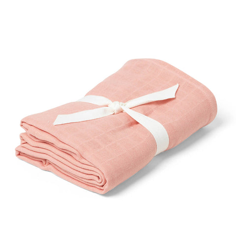 Molly Plain Swaddle in Coral Pink by Liewood - Junior Edition
