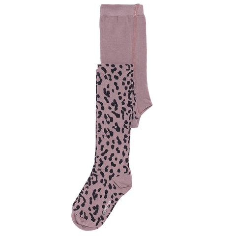 Lilac Leopard Tights by Maed For Mini