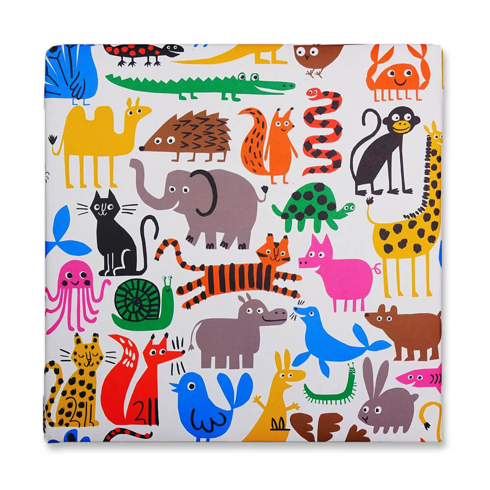Fauna Recycled Gift Wrap by Lisa Jones Studio - Junior Edition
