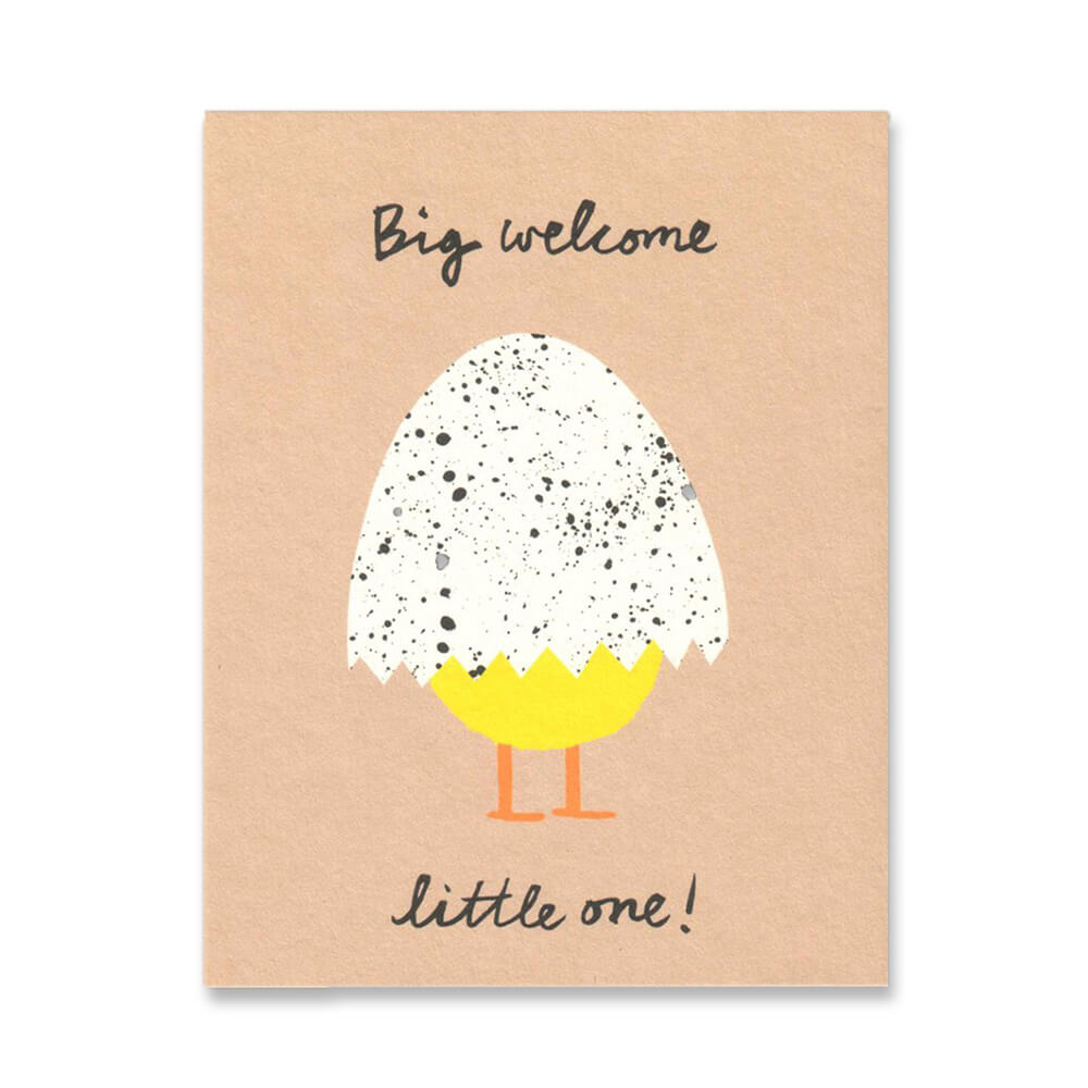 Big Welcome Mini Greetings Card by Lisa Jones Studio - Junior Edition