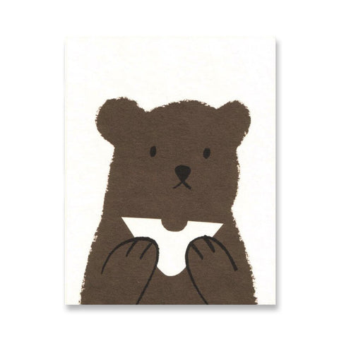 Butty Bear Mini Greetings Card by Lisa Jones Studio - Junior Edition