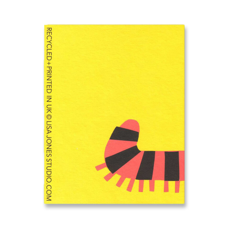 Caterpillar Mini Greetings Card by Lisa Jones Studio - Junior Edition