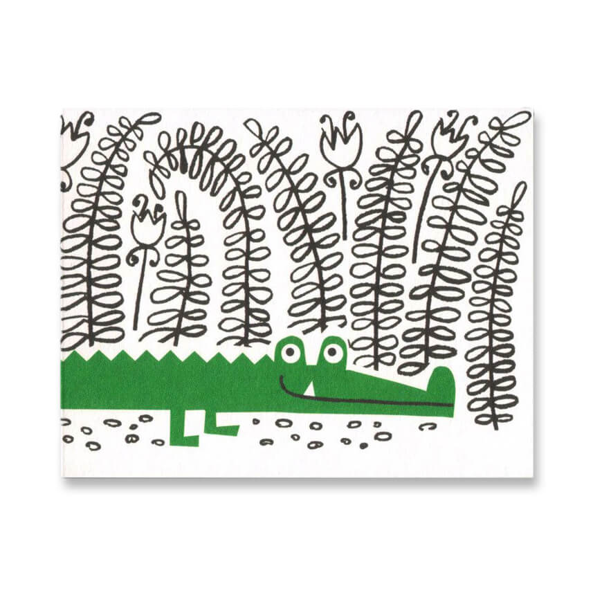 Crocodile Mini Greetings Card by Lisa Jones Studio - Junior Edition