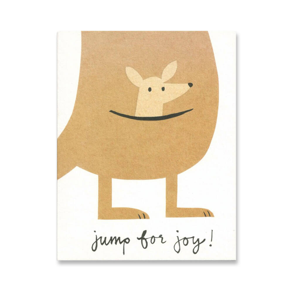Jump For Joy Mini Greetings Card by Lisa Jones Studio - Junior Edition