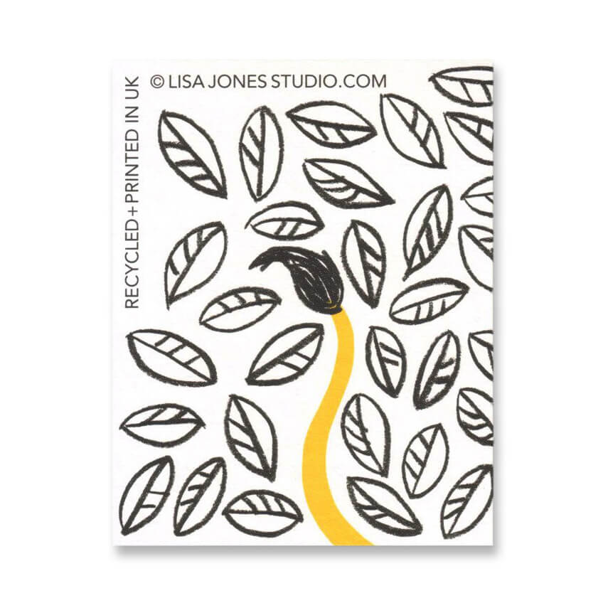 Jungle Lion Mini Greetings Card by Lisa Jones Studio - Junior Edition