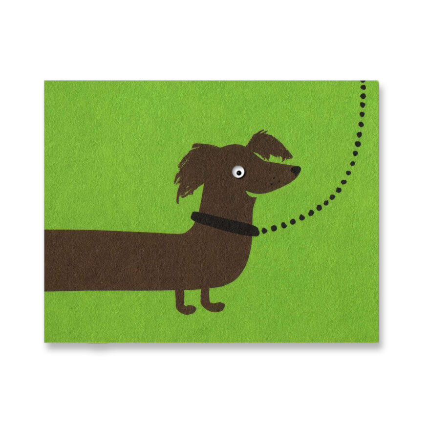 Sausage Dog Mini Greetings Card by Lisa Jones Studio - Junior Edition
