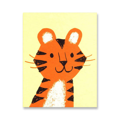 Tiger Mini Greetings Card by Lisa Jones Studio - Junior Edition