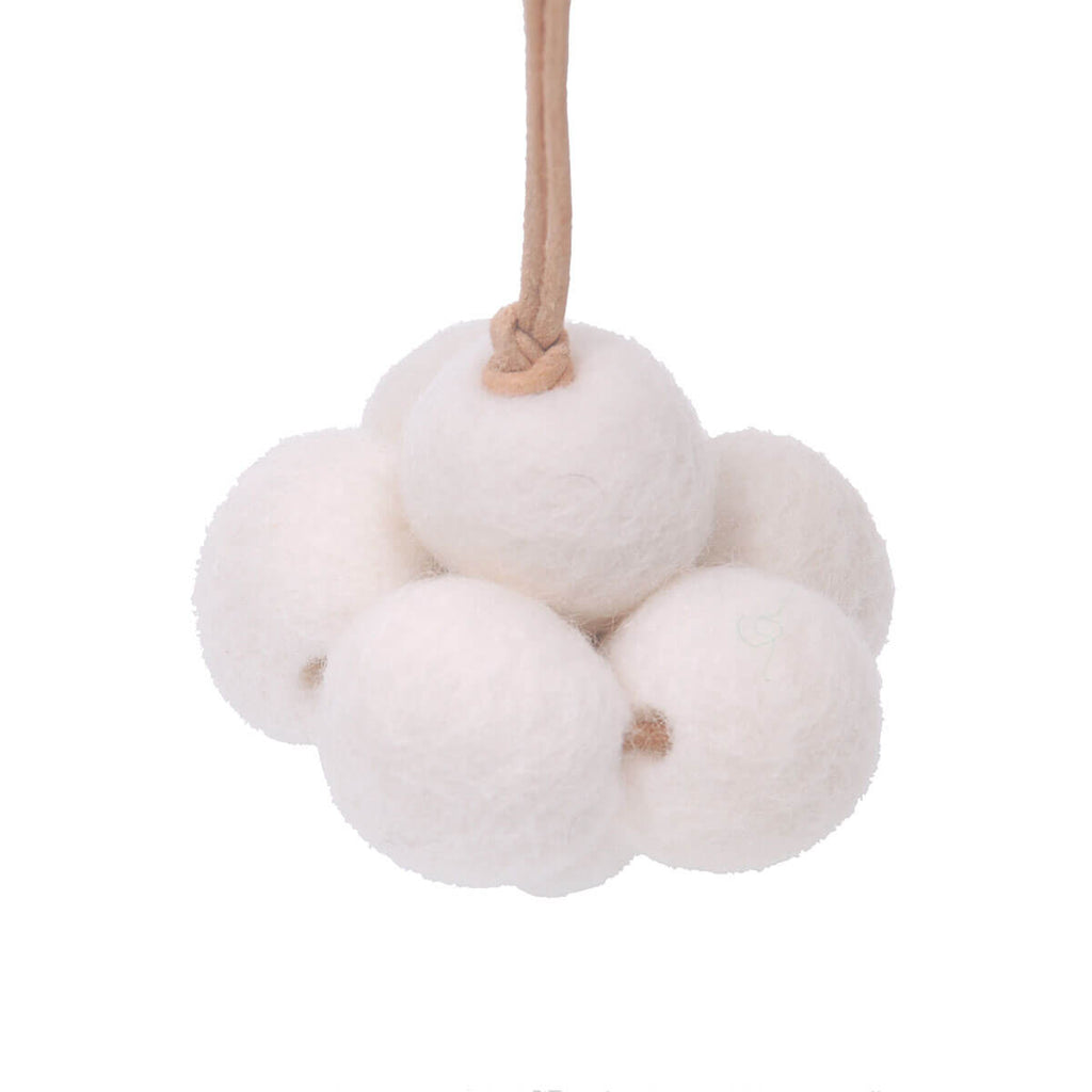 Baby Cloud Baby Gym Toy in White by Loullou - Junior Edition