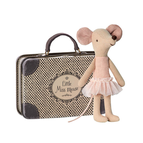 Big Sister Ballerina Mouse in a Suitcase by Maileg