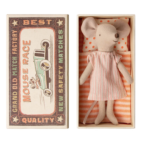 Big Sister Mouse in a Matchbox (Nightgown) by Maileg
