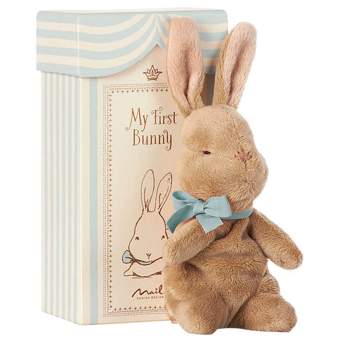My First Bunny in a Box in Blue by Maileg