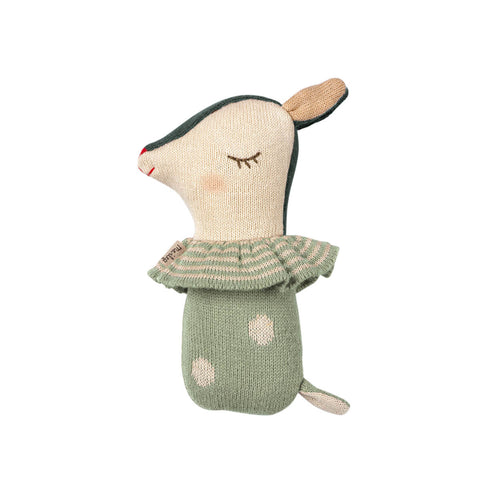Bambi Rattle in Dusty Mint by Maileg