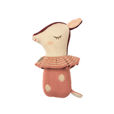 Bambi Rattle in Rose by Maileg