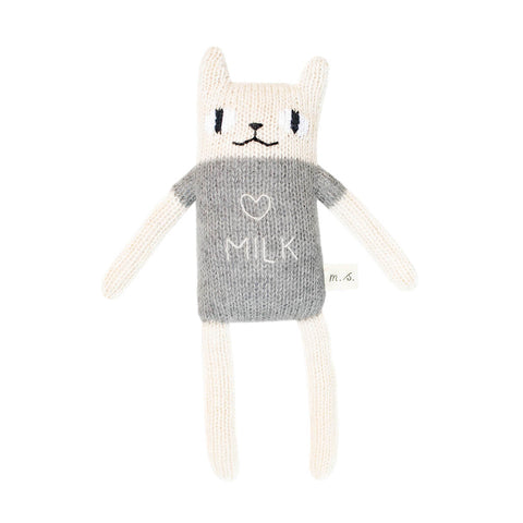 Cat Soft Toy in Grey by Main Sauvage - Junior Edition