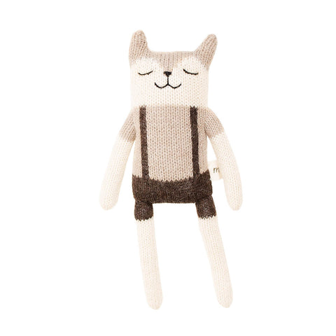 Fawn With Overalls Soft Toy in Sand by Main Sauvage - Junior Edition