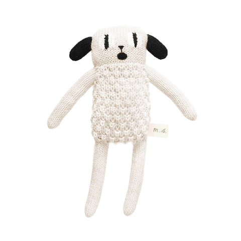 Puppy Soft Toy in Black and White by Main Sauvage - Junior Edition